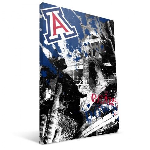 "Arizona Wildcats 16"" x 24"" Spirit Canvas Print"