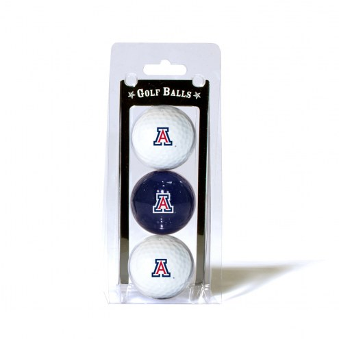 Arizona Wildcats 3 Pack of Golf Balls