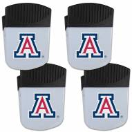 Arizona Wildcats 4 Pack Chip Clip Magnet with Bottle Opener