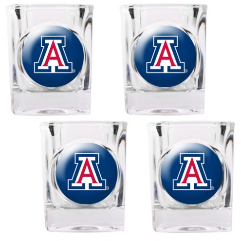 Arizona Wildcats 4 Piece Square Shot Glasses