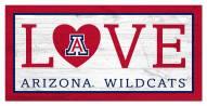 "Arizona Wildcats 6"" x 12"" Love Sign"