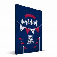 "Arizona Wildcats 8"" x 12"" Little Man Canvas Print"