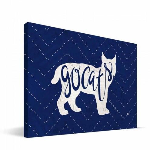 "Arizona Wildcats 8"" x 12"" Mascot Canvas Print"