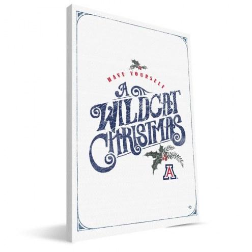 "Arizona Wildcats 8"" x 12"" Merry Little Christmas Canvas Print"
