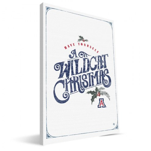 "Arizona Wildcats 8"" x 12"" Merry Little Christmas Canvas Print"