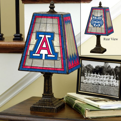 Arizona Wildcats Art Glass Table Lamp