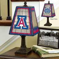 Arizona Wildcats Art Glass Table Lamp