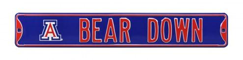 Arizona Wildcats Bear Down Street Sign