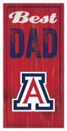Arizona Wildcats Best Dad Sign