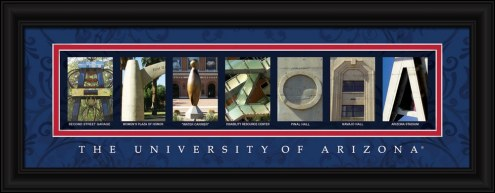 Arizona Wildcats Campus Letter Art