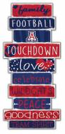Arizona Wildcats Celebrations Stack Sign