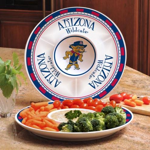 Arizona Wildcats Ceramic Chip and Dip Serving Dish