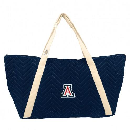 Arizona Wildcats Chevron Stitch Weekender Bag