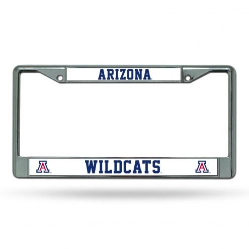 Arizona Wildcats Chrome License Plate Frame
