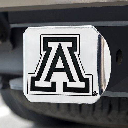 Arizona Wildcats Chrome Metal Hitch Cover