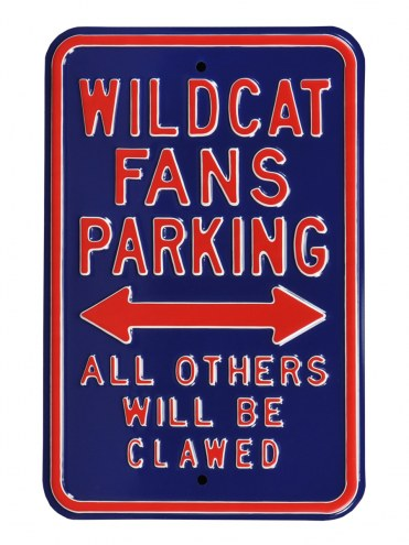Arizona Wildcats Clawed Parking Sign