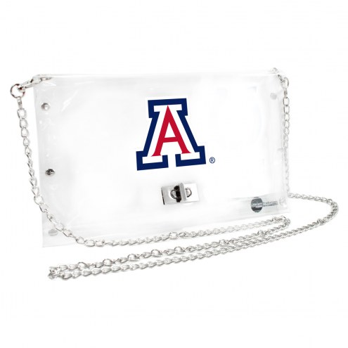 Arizona Wildcats Clear Envelope Purse