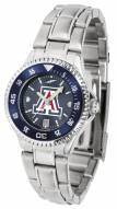 Arizona Wildcats Competitor Steel AnoChrome Women's Watch - Color Bezel
