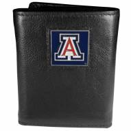 Arizona Wildcats Deluxe Leather Tri-fold Wallet in Gift Box