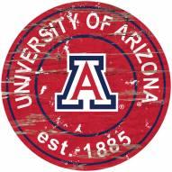 Arizona Wildcats Distressed Round Sign