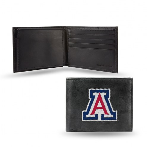 Arizona Wildcats Embroidered Leather Billfold Wallet