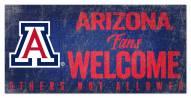 Arizona Wildcats Fans Welcome Sign