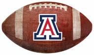 Arizona Wildcats Football Shaped Sign