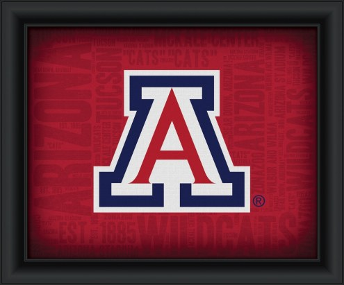 Arizona Wildcats Framed Word Cloud