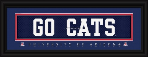"Arizona Wildcats ""Go Cats"" Stitched Jersey Framed Print"