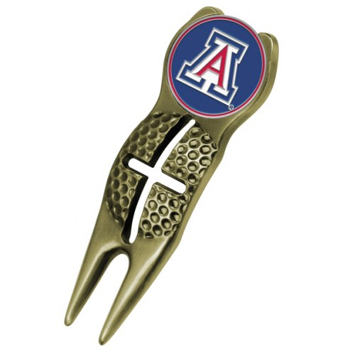 Arizona Wildcats Gold Crosshairs Divot Tool