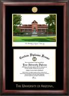 Arizona Wildcats Gold Embossed Diploma Frame with Lithograph