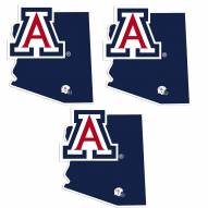 Arizona Wildcats Home State Decal - 3 Pack
