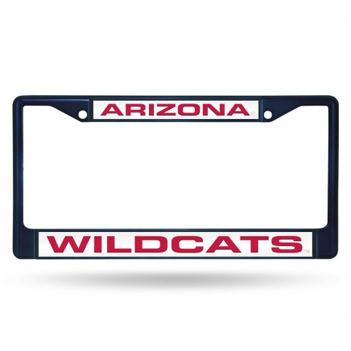 Arizona Wildcats Laser Colored Chrome License Plate Frame