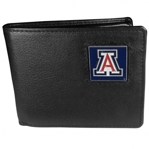 Arizona Wildcats Leather Bi-fold Wallet in Gift Box