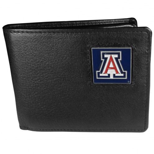 Arizona Wildcats Leather Bi-fold Wallet in Gift Box