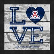 Arizona Wildcats Love My Team Square Wall Decor