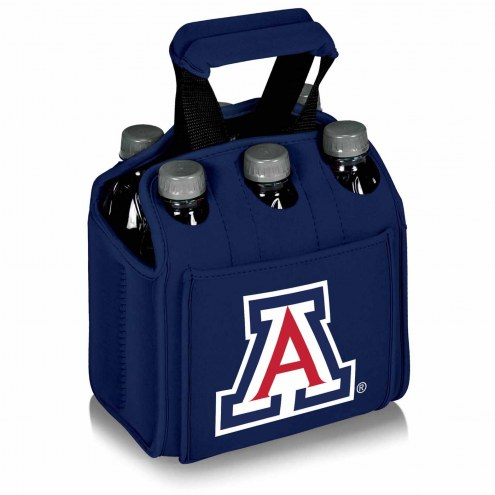 Arizona Wildcats Navy Six Pack Cooler Tote