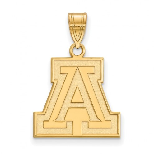 Arizona Wildcats NCAA Sterling Silver Gold Plated Medium Pendant