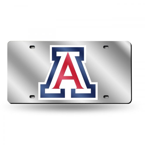 Arizona Wildcats NCAA Silver Laser License Plate