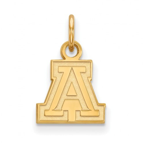 Arizona Wildcats NCAA Sterling Silver Gold Plated Extra Small Pendant