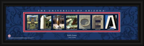 Arizona Wildcats Personalized Campus Letter Art