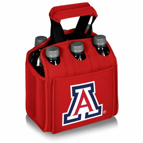 Arizona Wildcats Red Six Pack Cooler Tote