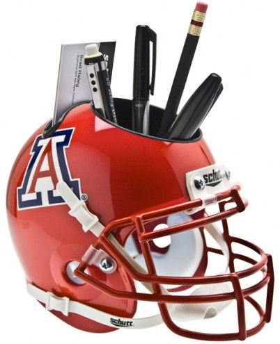 Arizona Wildcats Scarlet Schutt Football Helmet Desk Caddy
