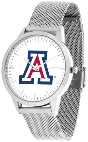Arizona Wildcats Silver Mesh Statement Watch