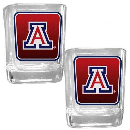 Arizona Wildcats Square Glass Shot Glass Set