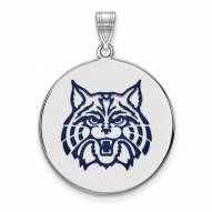 Arizona Wildcats Sterling Silver Extra Large Enameled Disc Pendant