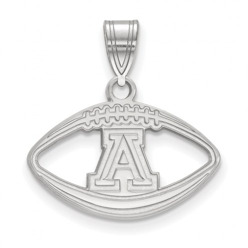 Arizona Wildcats Sterling Silver Football Pendant