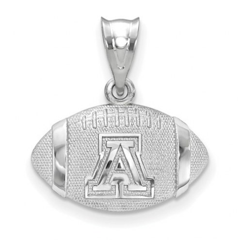 Arizona Wildcats Sterling Silver Football with Logo Pendant