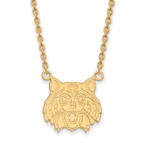 Arizona Wildcats Sterling Silver Gold Plated Large Pendant Necklace