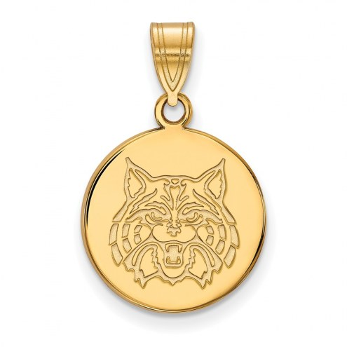Arizona Wildcats Sterling Silver Gold Plated Small Disc Pendant